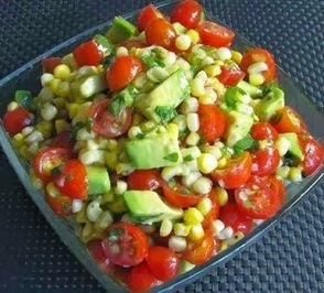 Tomato, avocado and corn salad | Raw Food Diet | Scoop.it