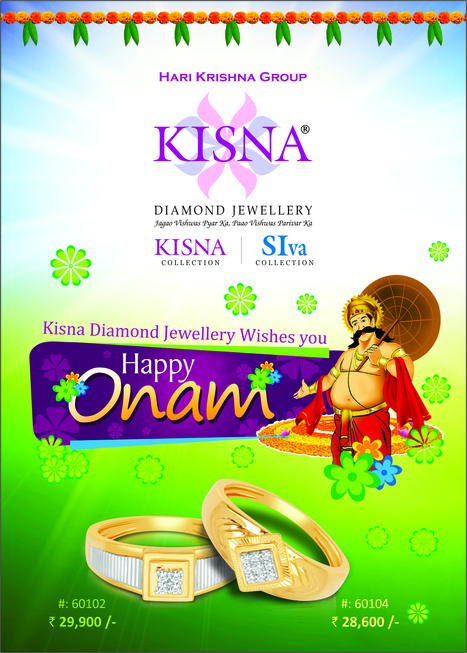 Wishing You All A Very Happy Onam! | Latest Indian Diamond Jewellery Designs | Scoop.it