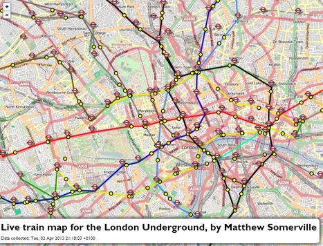 Live map of London Underground trains   TIG   Scoop.it