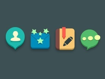 44 inspirational Almost Flat Icon Design Examples | Resources & Tutorials | Scoop.it