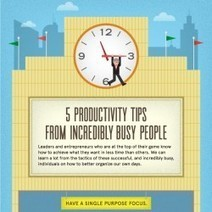 5 Productivity Tips From Incredibly Busy People | Visual.ly | Leadership to change our schools' cultures for the 21st Century | Scoop.it