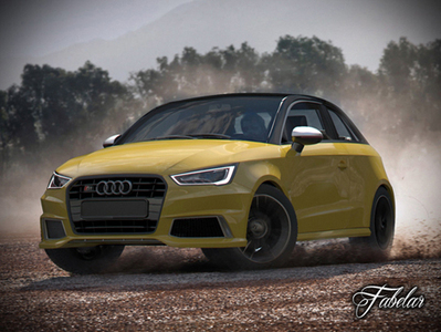 Audi S1 Sportback voiture 3D | 3D Library | Scoop.it