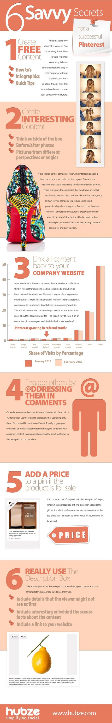 Six Savvy Secrets For A Successful Pinterest [INFOGRAPHIC] | SMB Social Media Monitor | Scoop.it