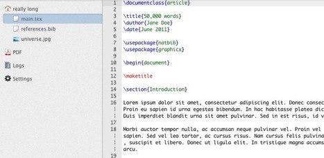 ShareLaTeX.com - Collaborate on LaTeX documents - the LaTeX editor in the cloud | Technology Ideas | Scoop.it