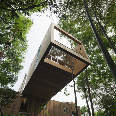 +node cantilevered wooden house by UID Architects | Architecture and Architectural Jobs | Scoop.it