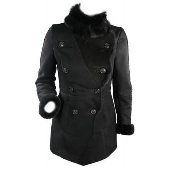 Ladies 100% Black Sheepskin Toscana Military Women Leather Winter Vintage Jacket Coat | Womens Clothing | Scoop.it