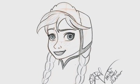 Learn How To Draw 'Frozen's' Anna at Disney's Hollywood Studios | Bazaar | Scoop.it