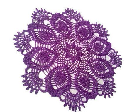 Crochet Doily, Purple, Pineapple, Crochet Doilies, Lace Doily | Crochet Miracles Shop on Etsy | Scoop.it