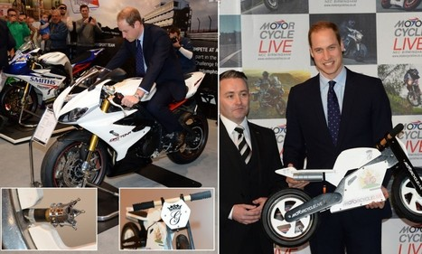 Mini motorbike for George: Prince William is presented with tiny bike for his ... - Daily Mail | Learning to ride (a motorcycle!) | Scoop.it