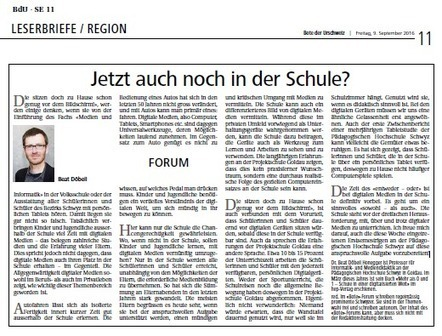 Jetzt auch noch in der Schule? - Beats Blog - Weblog von Beat Döbeli Honegger | Moodle and Web 2.0 | Scoop.it