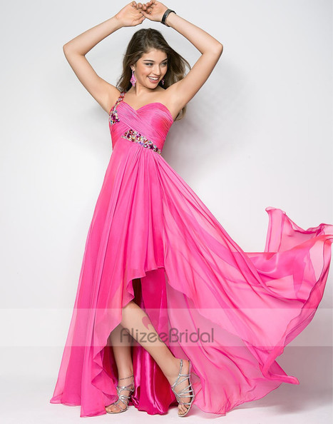 Sweetheart High Low Hemline Pleating Chiffon A Line Prom Dress Obp0078 | Fashion Dresses Online | Scoop.it