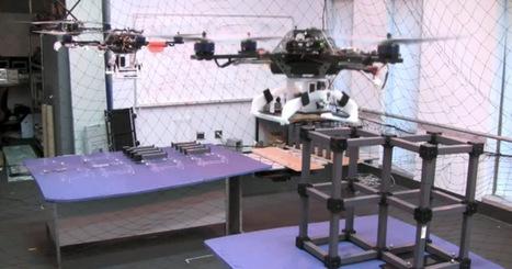 Quadrocopters Team Up | Robots and Robotics | Scoop.it