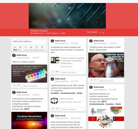 Content Curation Lands on Google+: Introducing Collections | eT-Marketing - Digital world for Tourism | Scoop.it