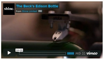 Edison cylinder inscribed on a beer-bottle | Nerdy Needs | Scoop.it