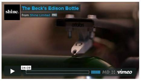 Edison cylinder inscribed on abeer-bottle | Nerdy Needs | Scoop.it