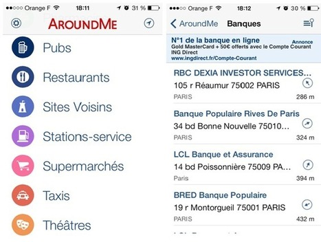Appli mobile de voyage : AroundMe | Le carnet - Wipolo | Corporate Food | Scoop.it