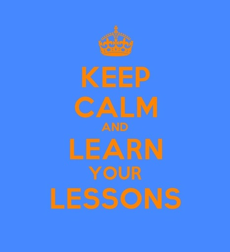 Keep Calm and Learn your Lessons   ITYPA   Scoop.it