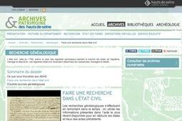 GénéInfos: Les archives des Hauts-de-Seine ouvrent leur site Web | GenealoNet | Scoop.it