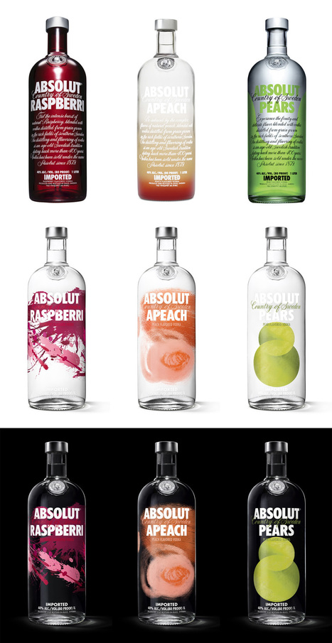 Brand New: New Packaging for Absolut Vodka Flavours by The Brand Union | GR8 Comm. | where ideas grow | Scoop.it