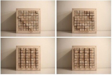 Lo-fi display made of 64 wooden blocks | Makers | Scoop.it