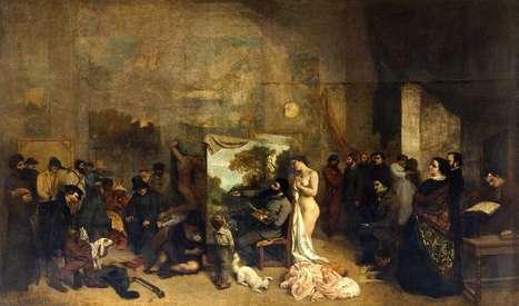 #247 ❘ L'Atelier du peintre ❘ 1855 ❘ Gustave COURBET | # HISTOIRE DES ARTS - UN JOUR, UNE OEUVRE - 2013 | Scoop.it