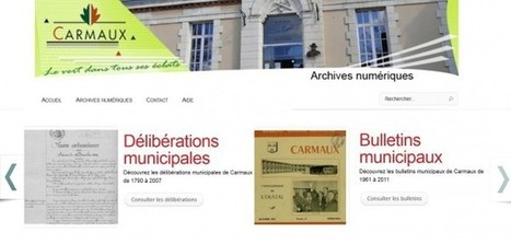 Les archives en ligne - Site officiel de la ville de Carmaux | Nos Racines | Scoop.it