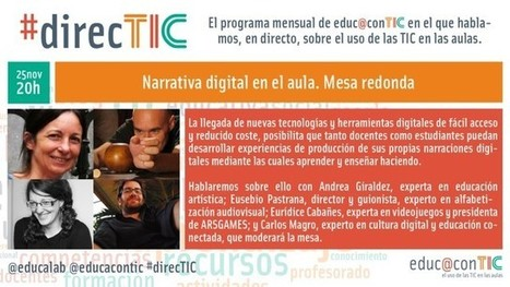 #direcTIC noviembre: Narrativa Digital | Blog de INTEF | Educacion, ecologia y TIC | Scoop.it