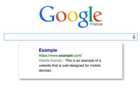 """Google dévoile un nouveau label """"optimisé mobile"""" dans ses résultats de recherche !   SEO, référencement naturel   Scoop.it"""