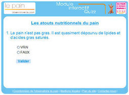 Le Pain - Observatoire du pain - Le Quiz nutrition | Remue-méninges FLE | Scoop.it