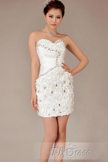 Great Sheath/Column Sweetheart Beading Cocktail Dress | skirt | Scoop.it