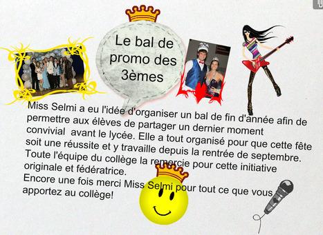 Le Bal de Promo des 3èmes organisé par Miss Selmi | Derniers articles du site! | Scoop.it
