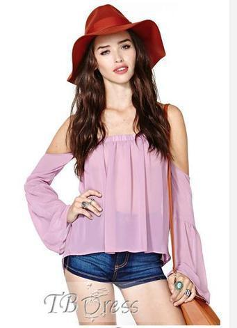 $ 28.99 Magnificent Off-shoulder Backless Long Sleeves  Blouse | fashion | Scoop.it