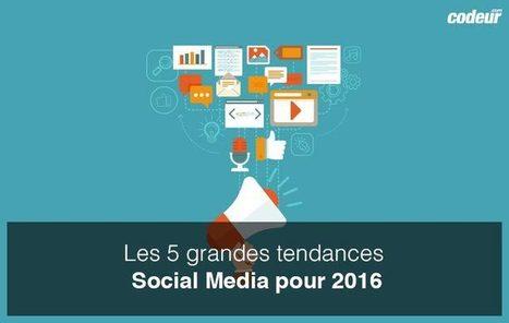 5 grandes tendances #SocialMedia pour 2016 | Communication Digital x Media | Scoop.it