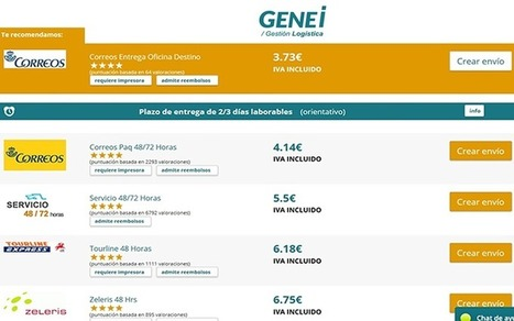 Genei, el comparador de referencia para las empresas | Blogística | Scoop.it