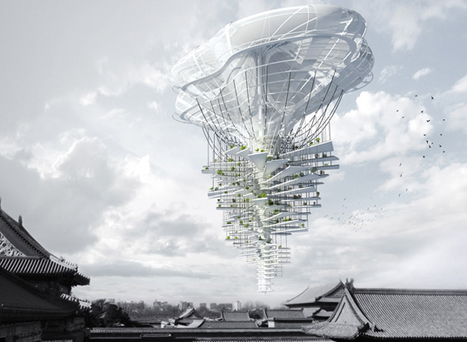 Floating Light Park Skyscraper Uses Solar Power & Helium to Hover Above Beijing | sustainable architecture | Scoop.it