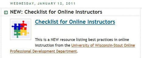 E-Learning Certificate Program: Checklist for Online Instructors | Tech & Education | Scoop.it