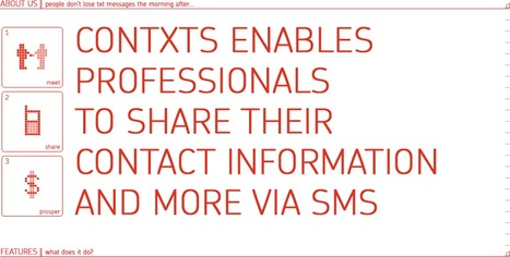 contxts - mobile sms business cards   Way Cool Tools   Scoop.it