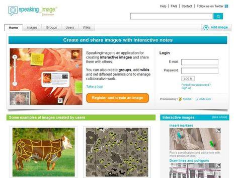Speaking Image: Maak interactieve afbeeldingen voor je digibord | Mood board | Scoop.it