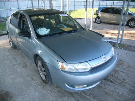 Salvage 2003 blue Saturn Ion Level with VIN 1G8AL52F13Z157654 on auction | VEHICLES on Auction | Scoop.it