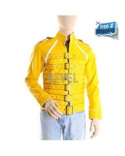 Men's Yellow and Gold Leather Belted Biker's Jacket - Freddy | Leather Jacket Stylish | Scoop.it