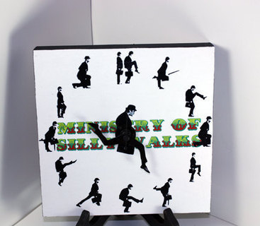 Monty Python Ministry of Silly Walks Clock 8x8 in. | GeekGasm | Scoop.it