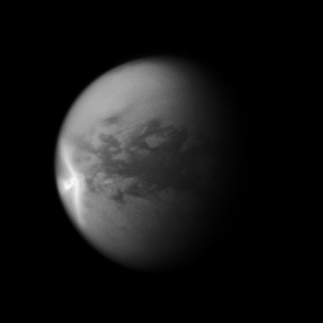 Mystery of Titan's Bizarre Giant Cloud Solved | Space matters | Scoop.it