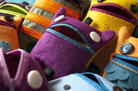 I simpatici astucci handmade MonsterCase: coloratissime idee regalo per privati e per negozi | annunci webcom | Scoop.it