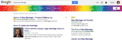Google Supports Gay Pride Month With Rainbow Colored Banner For LGBT Related Searches | LGBT News | Scoop.it