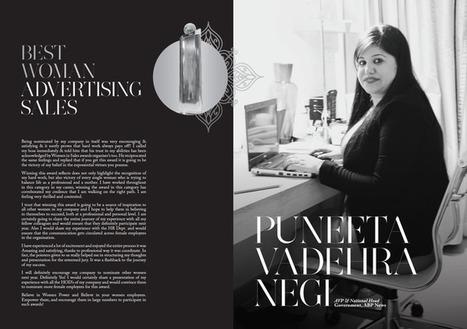 Puneeta Vadehra Negi AVP & National Head Government, ABP News Best Woman In Advertising Sales Winne | Women In Sales | Scoop.it