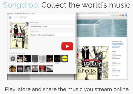 SongDrop. Une discotheque de votre musique en ligne. | Le Top des Applications Web et Logiciels Gratuits | Scoop.it