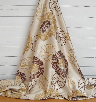 WHOLE ROLL DEAL 14.5 M'S Modern jacquard for curtains and soft furnishings in gold, brown and cream. | Welcome to Discount Fabrics Lincs | Scoop.it