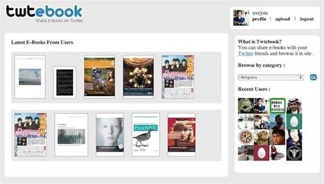 Twtebook, para compartir libros electrónicos en twitter - Leer en Pantalla - Libros electrónicos para todos   Libros electrónicos   Scoop.it