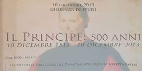i 500 anni del Principe di Machiavelli   Io leggo, e tu?   Scoop.it