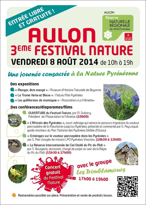 Troisième Festival Nature d'Aulon, le Vendredi 8 Août 2014 | La réserve naturelle d'Aulon | Vallée d'Aure - Pyrénées | Scoop.it